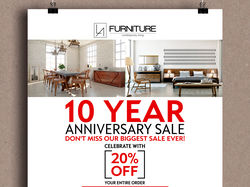 Poster -YEAR ANNIVERSARY SALE