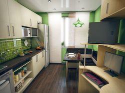 Гостиная, кухня, детская комната.