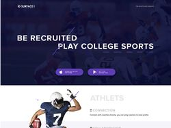 Landing page спортивной организации