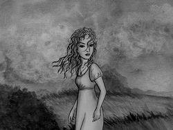 Девушка и ветер