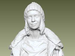 Обработка 3D скана женщины