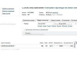 Рекламные кампании Яндекс Директ (Поиск)