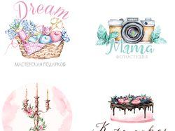 акварельные логотипы