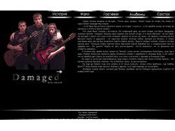 Сайт рокгруппы Damaged