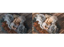 Обработка фото младенцев