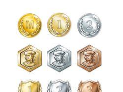 Иконки-награждения для сотрудников компании