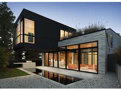 моделирование и визуализация современного дома.