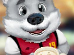 Рисунок Волченка с кофе