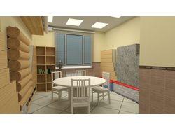 выставочная комната для строительной организации