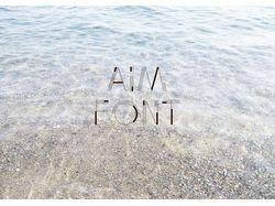 Шрифт Aim