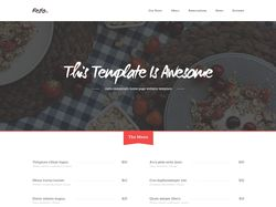 Landing page of restaurant