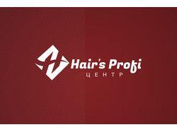 """Логотип студии стильных профессий """"Hair's Profi"""""""