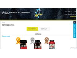 Оптимизация верстки сайта спортпитания 4Pump.ru