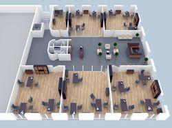 3D план офисного помещения