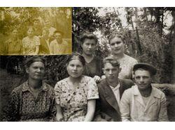 коррекция семейного фото