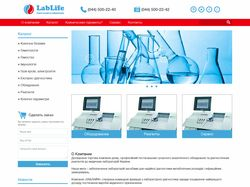 LabLife (верстка, WordPress)