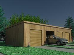 Проектирование гаража на 4 машины.