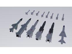 Набор советских/российский авиационных ракет