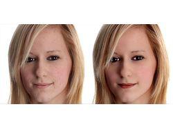 Обработка портрета (частотное разложение)