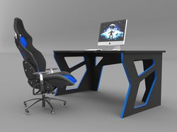 Визуализация геймерского компьютерного стола