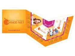 Разработка календаря пирамидка для Orange Net