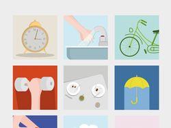 Flat-design Icons