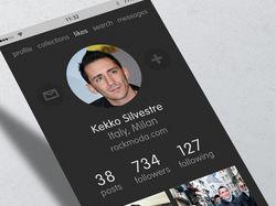 Страница профиля социальной сети
