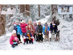 Зима и дети.