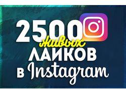 Добавлю 2500+ лайков instagram