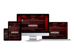 Сайт студии звукозаписи, адаптивная верстка