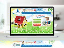 """Дизайн сайта и логотипа """"Касса быстрых денег"""""""