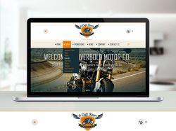 Дизайн интернет-магазина по продаже мотоциклов