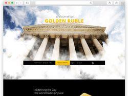 Сайт компании Golden Ruble