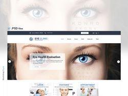 """Сайт с адаптивным и гибким дизайном """"Eye Clinic""""."""