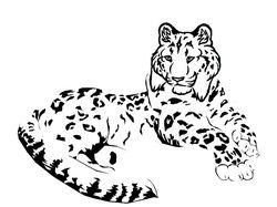 Ирбис (набросок лого)