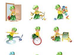 Доработка персонажа под тематические разделы сайта
