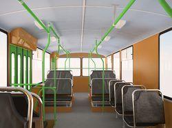 Интерьер троллейбуса