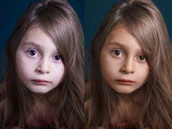 Ретушь детский портрет.