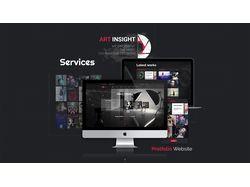 Креативный сайт-портфолио ART Insight