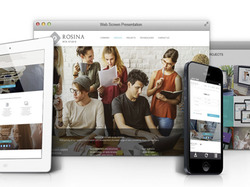 Responsive web design of Web-studio