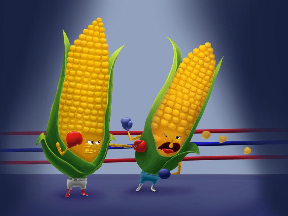 Смешная картинка кукурузы