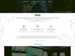 Дизайн сайта для компании Tanto Solutions