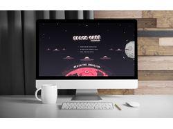 """Space Cats"" - автобиографический сайт-портфолио."