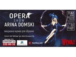 Конц. баннер для украинской певицы Арины Домски