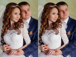 Обработка свадебных фотографий.