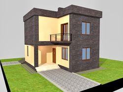 Проект дачного дома 97,90 кв.м.
