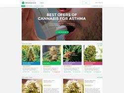 Адаптивная верстка сайта WeedIco