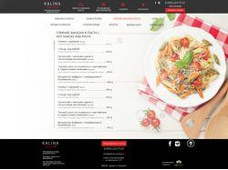 Сайт ресторан Калина