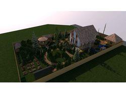 Ландшафтный дизайн садового участка 12 соток