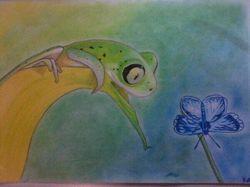 Цветные карандаши, лист А4